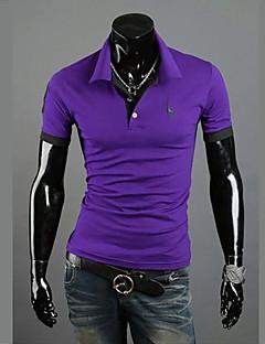 お買い得  メンズファッション&ウェア-男性用 プラスサイズ Polo ビジネス 活発的 シャツカラー スリム ソリッド コットン