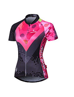 cheap Cycling Jerseys-Malciklo Women's Short Sleeves Cycling Jersey - Pink British Geometic Bike Jersey Summer, Polyester Coolmax® Lycra