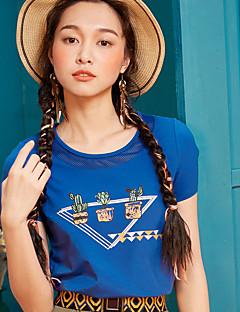 Χαμηλού Κόστους I BELIEVE YOU-Γυναικείο T-shirt Καθημερινά Απλό Μονόχρωμο Στάμπα,Κοντομάνικο Στρογγυλή Λαιμόκοψη Βαμβάκι