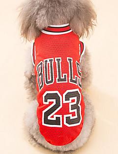 billiga Hundkläder-Hund T-shirt Hundkläder Brittisk Röd Svart Polyester Kostym För husdjur Herr Dam Ledigt/vardag Semester Födelsedag