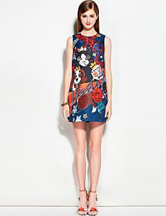 Χαμηλού Κόστους MARY YAN&YU-Γυναικεία Χαριτωμένο Κομψό στυλ street Γραμμή Α Φόρεμα - Φλοράλ Ζώο Πάνω από το Γόνατο