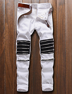 High Quality 29-38 Plus Size Famous Brand Men Jeans Men Casual Hip Hop Pants 100% Cotton Street chic Loose Straight Stripe Zipper Denim Pants