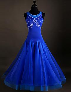 hesapli -Balo Dansı Elbiseler Kadın's Splandeks Organze Kristaller/Yapay Elmaslar Kolsuz Elbise