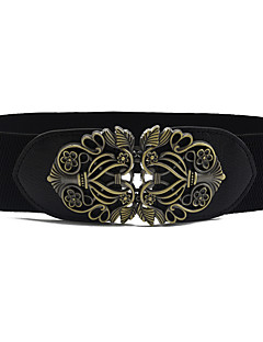 cheap Fashion Belts-Women's Vintage Cute Party Work Casual Alloy Skinny Belt - Solid, Shiny Metallic Fashion Sexy