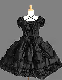 halpa -Gothic Lolita Prinsessa Punk Naisten Tyttöjen Yksiosainen Mekot Cosplay Lyhythihainen Lyhyt / mini