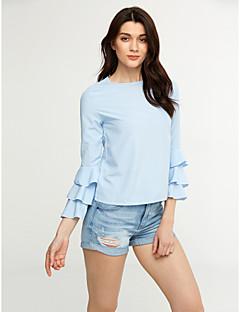 billige AW 19 Trends-Dame - Ensfarvet Skjorte Polyester