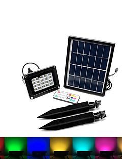 billige Solcelle & LED-Belysning-3W RGB