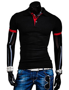 Men's Pure Black/Blue/Red/White/Gray Cotton T-Shirt,Casual