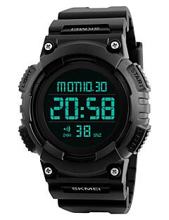 SKMEI Herrn Sportuhr Militäruhr Modeuhr Armbanduhr Digitaluhr Japanisch digitalLED Kalender Chronograph Wasserdicht Duale Zeitzonen Alarm