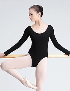 zullen we ballet leotards vrouwen trainen katoen 1 stuk lange mouwen hoge leotard