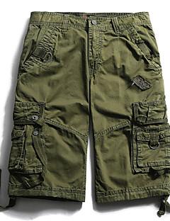 billige Herrebukser og -shorts-Herre Store størrelser Bomull Løstsittende Shorts Avslappet Bukser Ensfarget