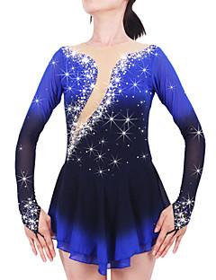preiswerte -Eiskunstlaufkleid Damen Mädchen Eislaufen Kleider Schwarz Elasthan Strass Hochelastisch Leistung Eiskunstlaufkleidung Handgemacht Mit