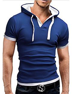 baratos Abrigos e Moletons Masculinos-Homens Camiseta - Esportes Básico Estampa Colorida Com Capuz