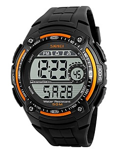 SKMEI Pánské Sportovní hodinky Digitální hodinky Digitální Voděodolné Stopky PU Kapela Černá