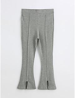preiswerte Mode für Mädchen-Mädchen Hose Solide Baumwolle Frühling Herbst Grau