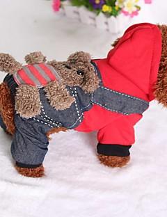 billiga Hundkläder-Katt Hund Jumpsuits Hundkläder Jeans Cotton Ner Kostym För husdjur Ledigt/vardag