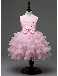 Mädchen Kleid Ausgehen einfarbig Polyester Ganzjährig Ärmellos