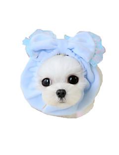 billiga Hundkläder-Hund Snusnäsdukar och mössor Hundkläder Rosett Gul Blå Rosa Tyg Kostym För husdjur Dam Ledigt/vardag