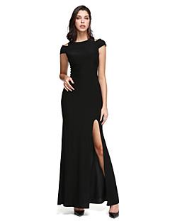 billiga Aftonklänningar-Åtsmitande Off shoulder Ankellång Jersey Bal / Formell kväll Klänning med Delad framsida av TS Couture®