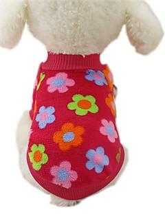 billiga Hundkläder-Hund Kappor T-shirt Tröja Hundkläder Rand Ros Brun Röd Blå Rand Flanelltyg Kostym För husdjur Herr Dam Ledigt/vardag Mode