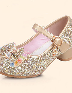 cheap -Girls' Shoes Leatherette Spring & Summer Comfort / Flower Girl Shoes Flats Sequin / Buckle for Silver / Blue / Pink / TPR (Thermoplastic Rubber)
