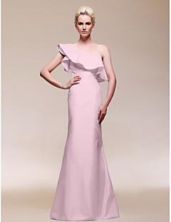 billige Høst 2013-Tube / kolonne Enskuldret Gulvlang Taft Kjendisstil Formell kveld Kjole med Drapert av TS Couture®