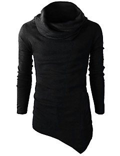 Men's Daily Going out Casual Sweatshirt Solid Turtleneck Micro-elastic Others Long Sleeve Winter