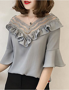 Women's Going out Daily Simple Sexy Spring Summer Blouse