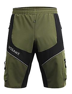 billige Sykkelklær-WOSAWE Herre Sykkelshorts Sykkel Hengende Shorts / MTB-shorts / Bunner Sykling, Utendørs, Refleksbånd Klassisk Polyester Militærgrønn