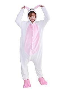 billige Kigurumi-Kigurumi-pysjamas med tøfler Kanin Onesie-pysjamas Kostume Flannelstoff Blå Rosa Cosplay Til Voksne Pysjamas med dyremotiv Tegnefilm