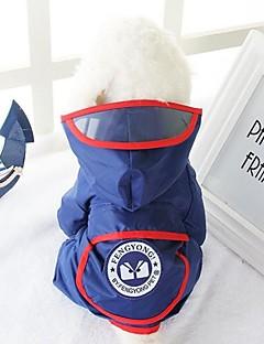 billiga Hundkläder-Hund Regnjacka Hundkläder Ledigt/vardag Geometriska Röd Blå Kostym För husdjur