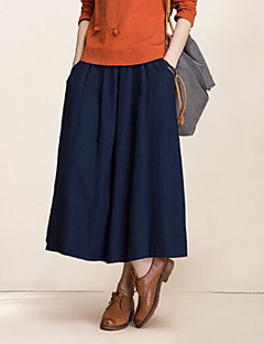 Women's Going out Midi Skirts,Simple Swing Solid Summer