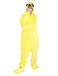 Kigurumi Pyjamas Pika Pika Kostume Flannelstoff Bukser Cosplay Kostumer Kigurumi Trikot / Heldraktskostymer Cosplay Festival / høytid