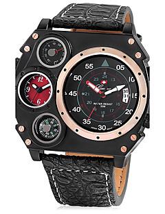 Pánské Sportovní hodinky Vojenské hodinky Unikátní Creative hodinky čínština Křemenný Kalendář Hodinky s dvojitým časem Kůže Kapela Cool