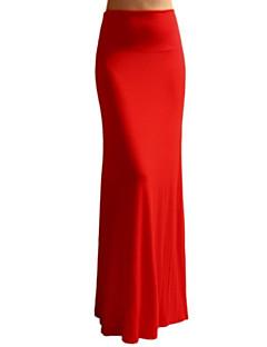 Ženske Sirena kroj Izlasci Maxi Suknje Jednobojni Proljeće