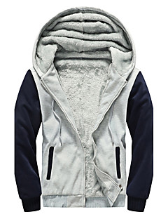 cheap Men's Downs & Parkas-Men's Cotton Padded - Color Block Hooded