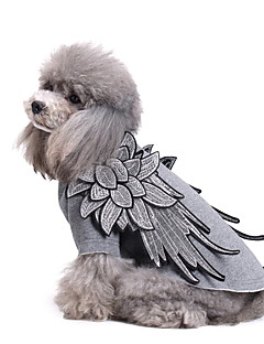 billiga Hundkläder-Hund Jumpsuits Hundkläder Ängel & Djävul Svart / Silver / Röd Cotton Kostym För husdjur Herr / Dam Mode