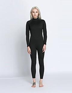 여성용 2mm 전신 잠수복 인체 해부학적 디자인 선크림 닫기 바디 친론 잠수복 긴 소매 다이빙 복-다이빙 서핑 사계절 솔리드