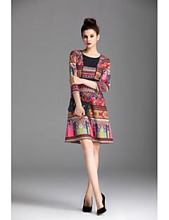 Χαμηλού Κόστους ZIYI-Γυναικεία Θήκη Φόρεμα - Μονόχρωμο, Στάμπα