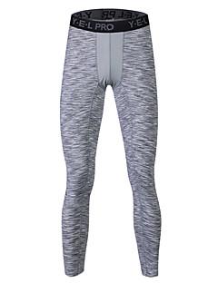 Herre Tights til jogging Treningstights Svettereduserende Verneutstyr Push up-bukser Fritid Tights Bunner til Yoga & Danse Sko Løper