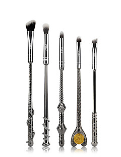 5PCS Metal Handle Brushes Fans Magic Wand Cosmetic Make Up Brushes Set
