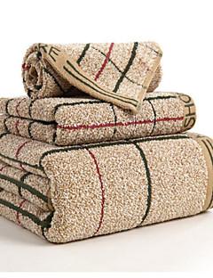 Badehandtuch Set,Plaid/Karomuster Gute Qualität 100% Baumwolle Handtuch