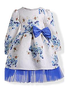 שמלה כותנה סתיו חורף שרוול ארוך יומהולדת יום יומי\קז'ואל חג אחיד פרחוני הילדה של
