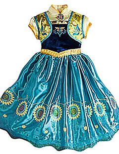 Prinsesse Eventyr Cosplay Jente Halloween Karneval Barnas Dag Festival / høytid Halloween-kostymer Gul+Blå Vintage