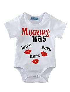 Baby Einzelteil Druck Baumwolle Sommer Kurzarm