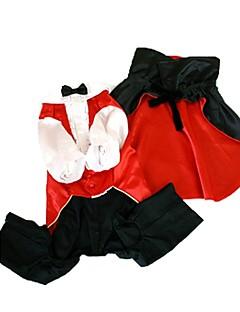 billiga Hundkläder-Hund Dräkter/Kostymer Hundkläder Vampyr Röd Cotton Kostym För husdjur Herr Dam Cosplay