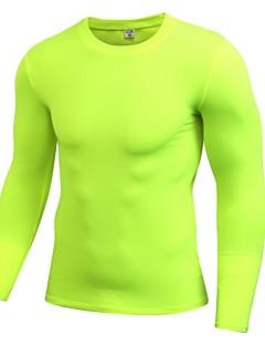 billiga Träning-, jogging- och yogakläder-Herr Rund hals T-shirt för jogging - Ljusröd, Marinblå, Frukt grön sporter T-shirt / Collegetröja / Överdelar Fitness, Gym, Träna Långärmad Sportkläder Lättvikt, Mateial som andas, Stretch Elastisk