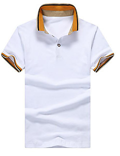 Men's Daily Casual Polo,Color Block Shirt Collar Short Sleeves Others