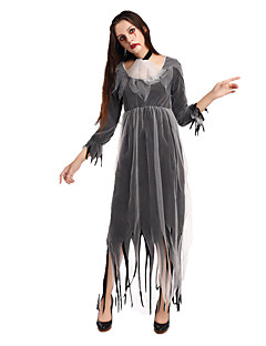 billige Voksenkostymer-Skjelett / Kranium Zombie Cosplay Kjoler Cosplay Kostumer Halloween Utstyr Dame Halloween Karneval Festival / høytid Drakter Vintage
