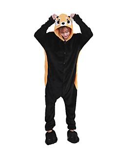 billige Kigurumi-Kigurumi-pysjamas med tøfler Vaskebjørn Onesie-pysjamas Kostume Flannelstoff Cosplay Til Voksne Pysjamas med dyremotiv Tegnefilm Halloween